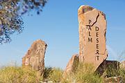 Palm Desert Flagstone City Markers