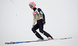 03.01.2015, Bergisel Schanze, Innsbruck, AUT, FIS Ski Sprung Weltcup, 63. Vierschanzentournee, Innsbruck, Qalifikations-Sprung, im Bild Manuel Fettner (AUT) // Manuel Fettner of Austria reacts after his qualification jump for the 63rd Four Hills Tournament of FIS Ski Jumping World Cup at the Bergisel Schanze in Innsbruck, Austria on 2015/01/03. EXPA Pictures © 2015, PhotoCredit: EXPA/ Jakob Gruber