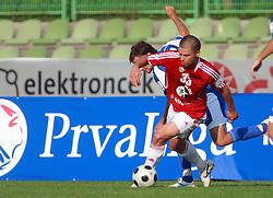 Dejan Grabic (33) of Interblock vs Tim Lo Duca (17) of Nafta at 7th Round of PrvaLiga Telekom Slovenije between NK Interblock vs NK Nafta Lendava, on September , 2008, in ZAK stadium in Ljubljana, Slovenia. Interblock won the match 3:1. (Photo by Vid Ponikvar / Sportal Images)