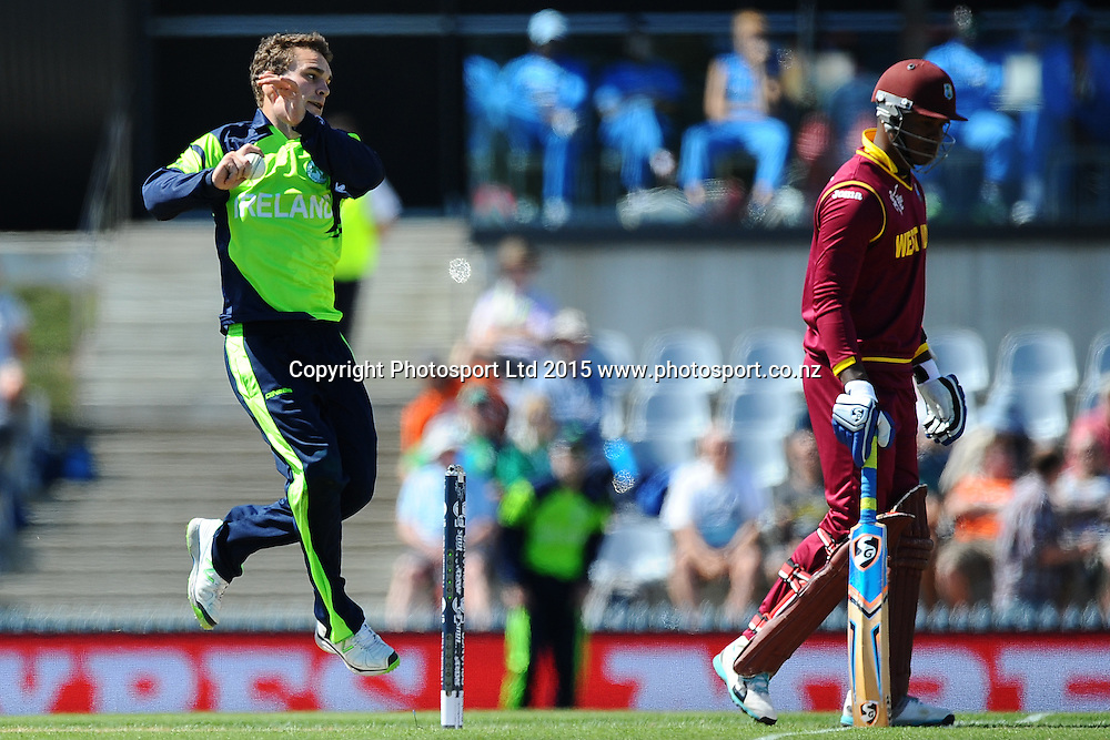 Andrew McBrine of Ireland during the 2015 ICC Cricket World Cup match between West Indies and Ireland. Saxton Oval, Nelson, New Zealand. Monday 16 February 2015. Copyright Photo: Chris Symes / www.photosport.co.nz