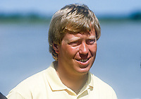 Howard Clark, professional golfer, England, competitor, Irish Open, June, 1986, 19860601HC2<br /> <br /> Copyright Image from Victor Patterson, 54 Dorchester Park, <br /> Belfast, UK, BT9 6RJ<br /> <br /> t1: +44 28 9066 1296 (from Rep of Ireland 048 9066 1296)<br /> t2: +44 28 9002 2446 (from Rep of Ireland 048 9002 2446)<br /> m: +44 7802 353836<br /> <br /> e1: victorpatterson@me.com<br /> e2: victorpatterson@gmail.com<br /> <br /> www.victorpatterson.com<br /> <br /> Please see my Terms and Conditions of Use at VICTORPATTERSON.COM. It is IMPORTANT that you familiarise yourself with them.<br /> <br /> Images used on the Internet must be visibly watermarked i.e. ©VICTORPATTERSON.COM within the body of the image and copyright metadata must not be deleted. Images used on the Internet have a size restriction of 4kbs and are chargeable at the then current NUJ rates.<br /> <br /> This image is only available for the use of the download recipient i.e. television station, newspaper, magazine, book publisher, etc, and must not be passed on to any third party. It is also downloaded on condition that each and every usage is notified within 7 days to victorpatterson@me.com<br /> <br /> The right of Victor Patterson to be identified as the author is asserted in accordance with The Copyright Designs And Patents Act (1988).
