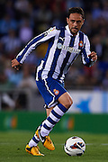 BARCELONA, SPAIN - MAY 11: Sergio Garcia of RCD Espanyol in action during the Liga BBVA between RCD Espanyol and Real Madrid CF at the Cornella-El Prat Stadium on May 11, 2013 in Barcelona, Spain. (Photo by Aitor Alcalde Colomer).