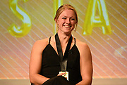 Dec 20, 2018; San Antonio, TX, USA; Women's finalist Maggie Ewen of Arizona State at the 10th Bowerman Awards at the JW Marriott San Antonio Hill Country Resort & Spa.