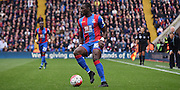 Yannick Bolasie holds up the ball during the Barclays Premier League match between Crystal Palace and West Ham United at Selhurst Park, London, England on 17 October 2015. Photo by Michael Hulf.