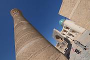 Uzbekistan, Bukhara.<br /> Kalon Minaret and Mir-i-Arab Medressa.