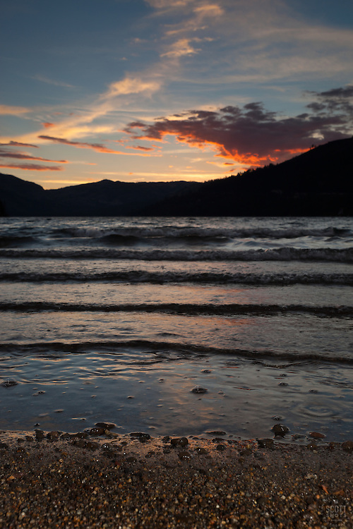 """Donner Lake Sunset 14"" - Photograph of a sunset at Donner Lake in Truckee, California."