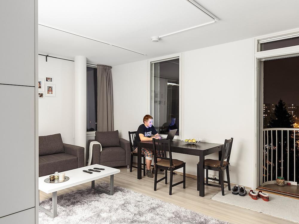 Vantaan Merkki apartments in Vantaa, Finland designed by Architect Tuomas Toivonen with Kanttia2