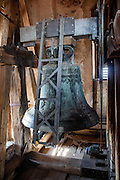"""The tower bell of """"The Church of the Transfiguration of Our Lord"""" at the South Bohemian city of Tabor. A group of Jan Hus followers came to a hill where a Premyslid settlement used to be and they founded a town there in the year 1420 and gave it a Biblical name - Tabor. Being led by captains Jan Zizka of Trocnov and Prokop Holy they started out on their victorious battles from there. The foundation of Tabor is connected with the name of Jan Hus, a great reformer of the Catholic Church."""