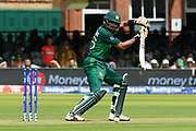 Babar Azam of Pakistan guides the ball to third man during the ICC Cricket World Cup 2019 match between Pakistan and Bangladesh at Lord's Cricket Ground, St John's Wood, United Kingdom on 5 July 2019.