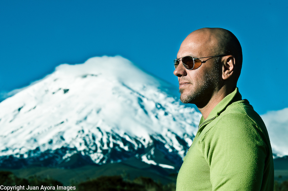 Miguel Urdaneta, Executive Producer, H2O Films, 3D advertisement, photographed by Cotopaxi in Ecuador