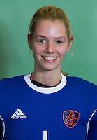 DELFT - Alexandra Heerbaart. Nederlands zaalhockeyteam dames voor EK in Minsk. COPYRIGHT KOEN SUYK