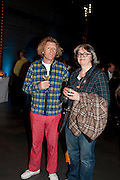 GRAYSON PERRY; PHILLIPA PERRY, The Unilever Series: Tacita Dean. Tate Modern. London. 10 October 2011. <br /> <br />  , -DO NOT ARCHIVE-© Copyright Photograph by Dafydd Jones. 248 Clapham Rd. London SW9 0PZ. Tel 0207 820 0771. www.dafjones.com.