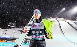 12.03.2019, Lysgards Schanze, Lillehammer, NOR, FIS Weltcup Skisprung, Raw Air, Lillehammer, Einzelbewerb, Herren, Siegerehrung, im Bild Gesamtfuehrender Robert Johansson (NOR) // Overall Leader Robert Johansson of Norway during the winner ceremony of the men's individual competition of the 2nd Stage of the Raw Air Series of FIS Ski Jumping World Cup at the Lysgards Schanze in Lillehammer, Norway on 2019/03/12. EXPA Pictures © 2019, PhotoCredit: EXPA/ JFK