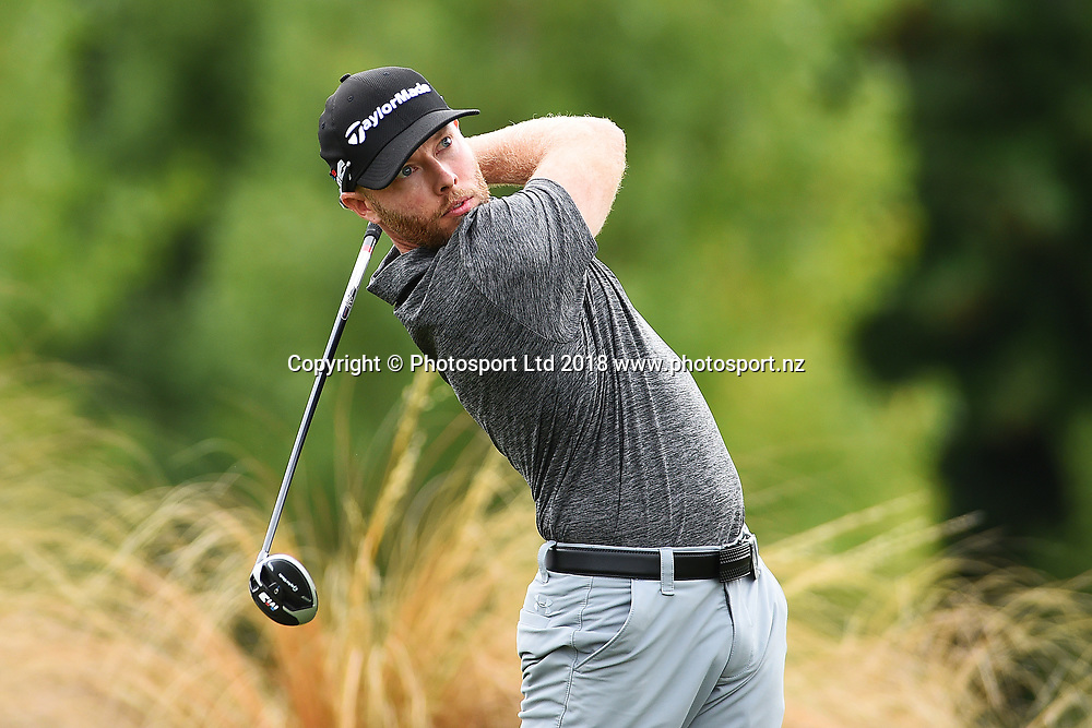 Jarin Todd from the America during Round 2 of the 2018 ISPS Handa New Zealand Golf Open. The Hills, Arrowtown. New Zealand. Friday 2 March 2018. ©Copyright Photo: Chris Symes / www.photosport.nz
