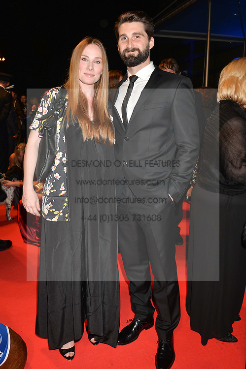 ROSIE MARCEL and BEN STACEY and Battersea dog Savannah at Battersea Dogs & Cats Home's Collars & Coats Gala Ball held at Battersea Evolution, Battersea Park, London on30th October 2014.