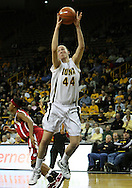 19 February 2009: Iowa center Megan Skouby (44) grabs a rebound during the second half of an NCAA women's college basketball game Thursday, February 19, 2009, at Carver-Hawkeye Arena in Iowa City, Iowa. Iowa defeated Wisconsin 72-65.