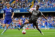 Leicester City Midfielder Demarai Gray (22) in action during the Barclays Premier League match between Chelsea and Leicester City at Stamford Bridge, London, England on 15 May 2016. Photo by Jon Bromley.