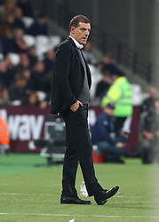 October 20, 2017 - London, England, United Kingdom - West Ham United manager Slaven Bilic .during Premier League match between West Ham United against Brighton and Hove Albion at The London Stadium, Queen Elizabeth II Olympic Park, London, Britain - 20 Oct  2017  (Credit Image: © Kieran Galvin/NurPhoto via ZUMA Press)
