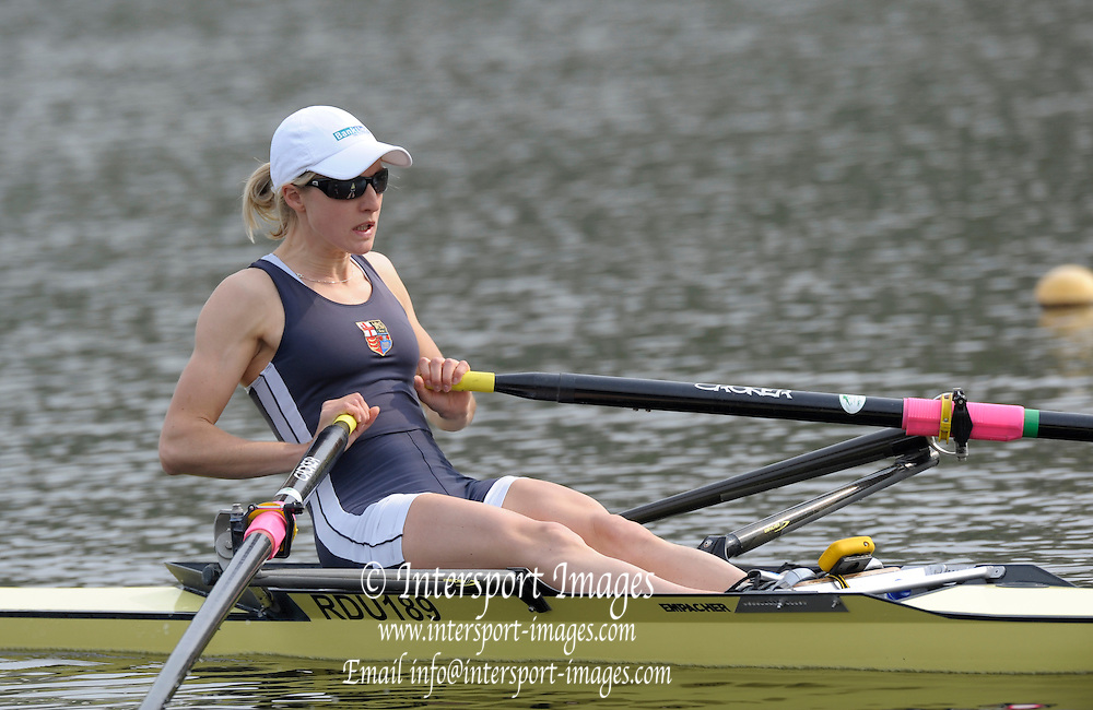 Hazewinkel, BELGIUM,  Laura GRENNHALGH, competing in the Sunday Afternoon, Semi Finals at the GB Rowing Senior Trials at the Blose Rowing Centre.  Sunday 12.04.2009 [Mandatory Credit. Peter Spurrier/Intersport Images]