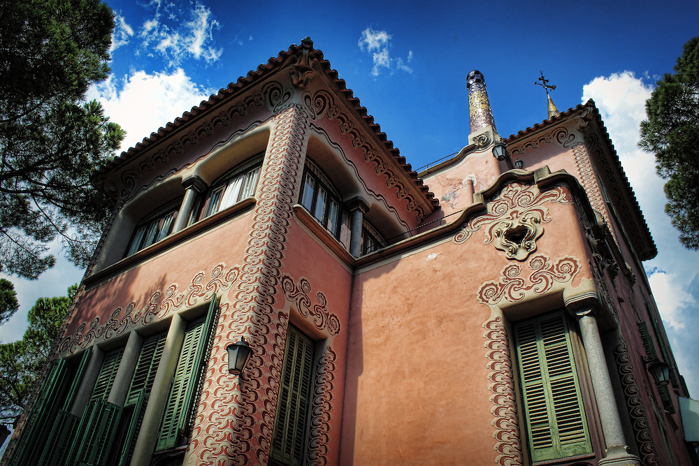 Antoni Gaudi's house in Park Guell, Barcelona.