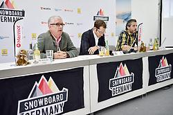 11.11.2014, MOC, München, GER, Snowboard Verband Deutschland, Einkleidung Winterkollektion 2014, im Bild Prof. Michael Hoelz, Praesident, Stefan Knnirsch, Geschaeftsfuehrer, Oliver Kraus, Pressesprecher, v. li, Snowboard Germany // during the Outfitting of Snowboard Association Germany e.V. Winter Collection at the MOC in München, Germany on 2014/11/11. EXPA Pictures © 2014, PhotoCredit: EXPA/ Eibner-Pressefoto/ Buthmann<br /> <br /> *****ATTENTION - OUT of GER*****