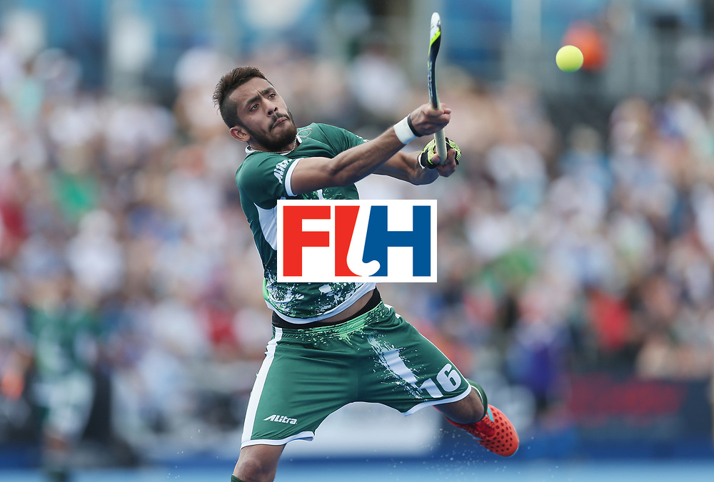 LONDON, ENGLAND - JUNE 18:  Ammad Shakeel of Pakistan during the Hero Hockey World League Semi-Final match between Pakistan and India at Lee Valley Hockey and Tennis Centre on June 18, 2017 in London, England.  (Photo by Alex Morton/Getty Images)