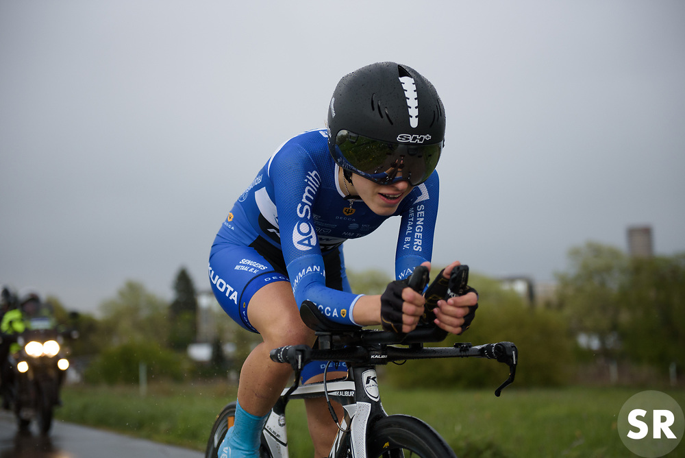 Alice Arzuffi at the Prologue of Festival Elsy Jacobs 2017. A 2.8 km individual time trial on April 28th 2017, in Cessange, Luxembourg. (Photo by Sean Robinson/Velofocus)