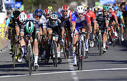 March 15, 2019 - Brignoles, France - BRIGNOLES, FRANCE - MARCH 15 : BENNETT Sam (IRL) of BORA - HANSGROHE winsbefore DEMARE Arnaud (FRA) of GROUPAMA - FDJ,TRENTIN Matteo (ITA) of MITCHELTON - SCOTT during stage 6 of the 2019 Paris - Nice cycling race with start in Peynier and finish in Brignoles  (176,5 km) on March 15, 2019 in Brignoles, France, 15/03/2019 (Credit Image: © Panoramic via ZUMA Press)