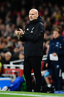 Football - 2019 / 2020 Premier League - Arsenal vs. Brighton & Hove Albion<br /> <br /> Arsenal caretaker manager Freddie Ljungberg encourages his team, at The Emirates.<br /> <br /> COLORSPORT/ASHLEY WESTERN