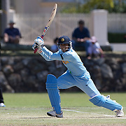Indian opening batsman Anjum Chopra in action as India and Pakistan compete in the first match of group B of the ICC Women's World Cup Cricket  at the picturesque setting of Bradman Oval, Bowral in the New South Wales Southern Highlands, Australia on March 7, 2009. Pakistan were bowled out for 57 while Indian won the match reaching 58 without loss. Photo Tim Clayton