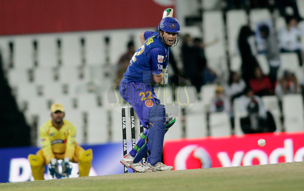 CENTURION, SOUTH AFRICA - 30 April 2009.  during the  IPL Season 2 match between the Rajasthan Royals and the Chennai Superkings held at  in Centurion, South Africa..Rajasthan Royals player Robert Quiney in action
