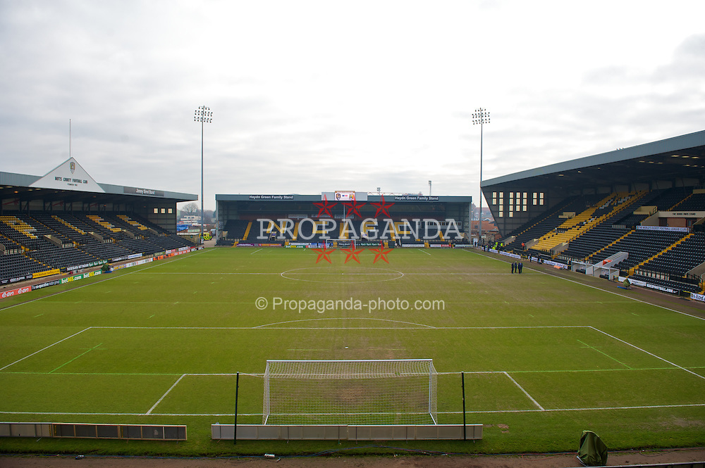 NOTTINGHAM, ENGLAND - Sunday, January 30, 2011: A general view of Notts County's Meadow Lane stadium. (Photo by David Rawcliffe/Propaganda)