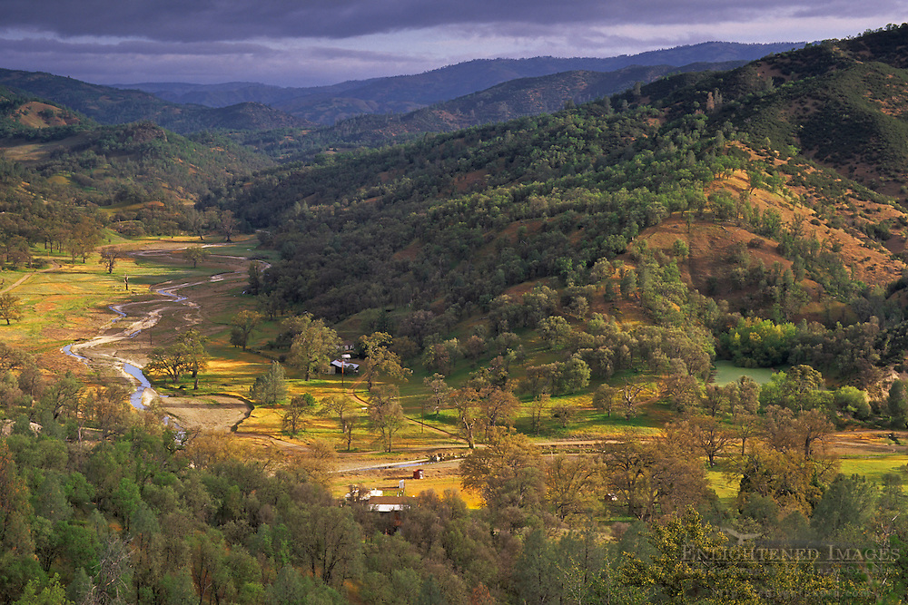Rural valley in the Diablo Range near Mount Hamilton, Santa Clara County, California