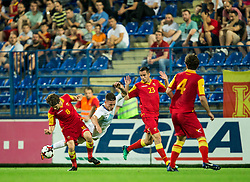 Nebojsa Kosovic of Montenegro vs Benjamin Verbic of Slovenia during friendly football match between National Teams of Montenegro and Slovenia, on June 2, 2018 in Stadium Pod goricom, Podgorica, Montenegro. Photo by Vid Ponikvar / Sportida