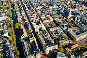 Nederland, Zuid-Holland, Leerdam, 28-10-2014; stadsgezicht met Grote Kerk.<br /> luchtfoto (toeslag op standard tarieven);<br /> aerial photo (additional fee required);<br /> copyright foto/photo Siebe Swart