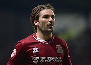 Northampton Town Midfielder Ricky Holmes during the Sky Bet League 2 match between Oxford United and Northampton Town at the Kassam Stadium, Oxford, England on 16 February 2016. Photo by Adam Rivers.