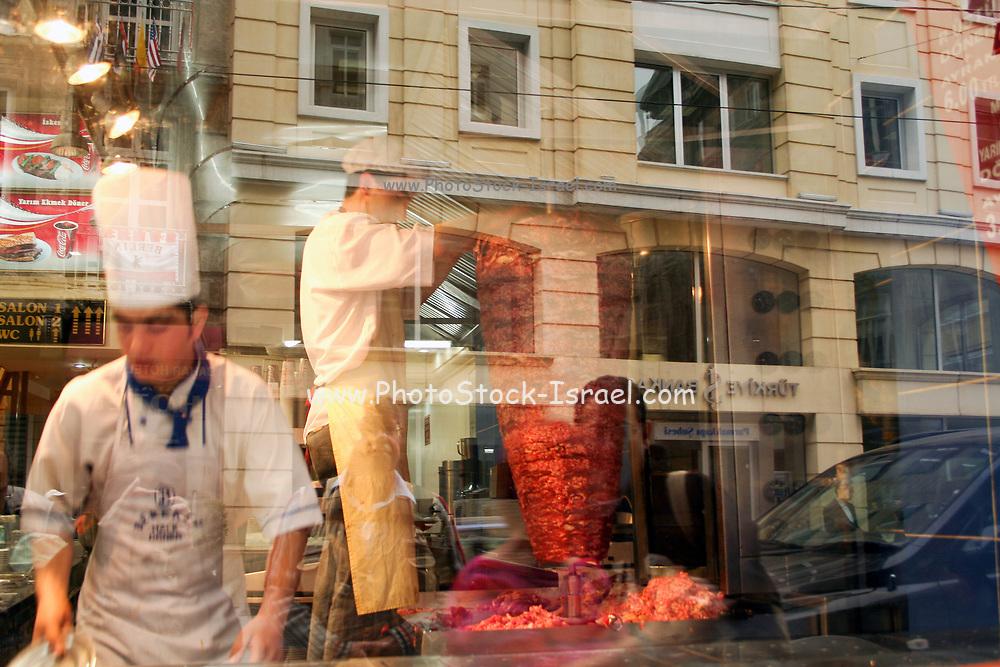 Doner Kebab shop in Istanbul, Turkey