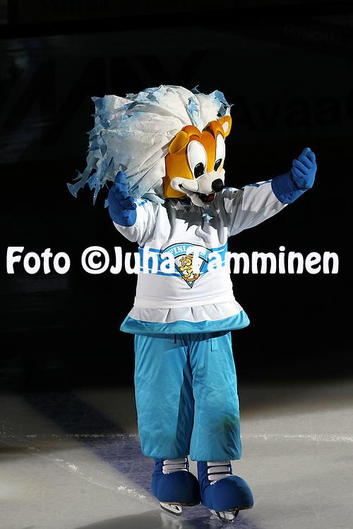 10.11.2011, Hartwall-Areena, Helsinki, Finland..Euro Hockey Tour - Karjala-turnaus 2011. Suomi - Venj / Finland v Russia..Leijonien maskotti...