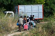 Roma 9 Luglio 2014<br /> Il campo rom  dietro la stazione ferroviaria di Val D'Ala, quartiere Monte Sacro, abitato da rom romeni, un insediamento  di baracche vicino al fiume Aniene è stato sgomberato dalla polizia municipale di Roma,e le baracche distrutte.<br /> I 39 rom, tra cui  11 minori e neonati, rimasti senza casa sono andati all'assessorate dell politiche sociali per cercare una soluzione.<br /> Rome, July 9, 2014 <br /> The Roma camp behind the train station of Val D'Ala, Monte Sacro district, inhabited by Romanian Romanis, a camp of huts near the river Aniene, was<br /> evacuated   by the municipal police of Rome and destroyed by the bulldozer.<br /> There was an estimated 39 Romanis, including 11 children and infants, living at this camp who are now facing homelessness.