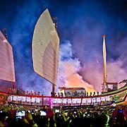 Donglong Boat Burning, Donggang, Pingtung