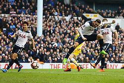 Vincent Janssen of Tottenham Hotspur heads the ball towards goal - Mandatory by-line: Jason Brown/JMP - 12/03/2017 - FOOTBALL - White Hart Lane - London, England - Tottenham Hotspur v Millwall - Emirates FA Cup Quarter Final