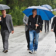 NLD/Amsterdam/20100826 - Uitvaart RTL journalist Conny Mus in Amsterdam, directie RTl met oa Erland Galjaard