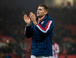 STOKE-ON-TRENT, ENGLAND - Saturday, January 25, 2020: Stoke City's Sam Vokes after the Football League Championship match between Stoke City FC and Swansea City FC at the Britannia Stadium. Stoke City won 2-0. (Pic by David Rawcliffe/Propaganda)