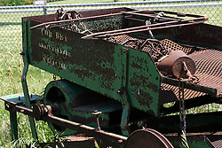 09 June 2012:   Cor Bea Crop Cleaner, a vintage farm implement manufactured in McLean Illinois.