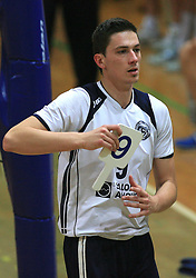 Dejan Vincic of Salonit at last final volleyball match of 1.DOL Radenska Classic between OK ACH Volley and Salonit Anhovo, on April 21, 2009, in Arena SGS Radovljica, Slovenia. ACH Volley won the match 3:0 and became Slovenian Champion. (Photo by Vid Ponikvar / Sportida)