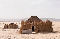 Nomadensiedlung in der algerischen Sahara