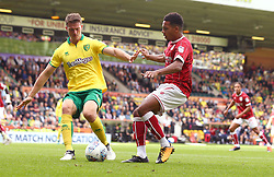 Korey Smith of Bristol City takes on Christoph Zimmermann of Norwich City - Mandatory by-line: Robbie Stephenson/JMP - 23/09/2017 - FOOTBALL - Carrow Road - Norwich, England - Norwich City v Bristol City - Sky Bet Championship