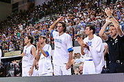 RIMINI 14 AGOSTO 2011<br /> BASKET <br /> TORNEO CITTA DI RIMINI TROFEO TASSONI<br /> ITALIA GRECIA<br /> NELLA FOTO ESULTANZA<br /> FOTO CIAMILLO