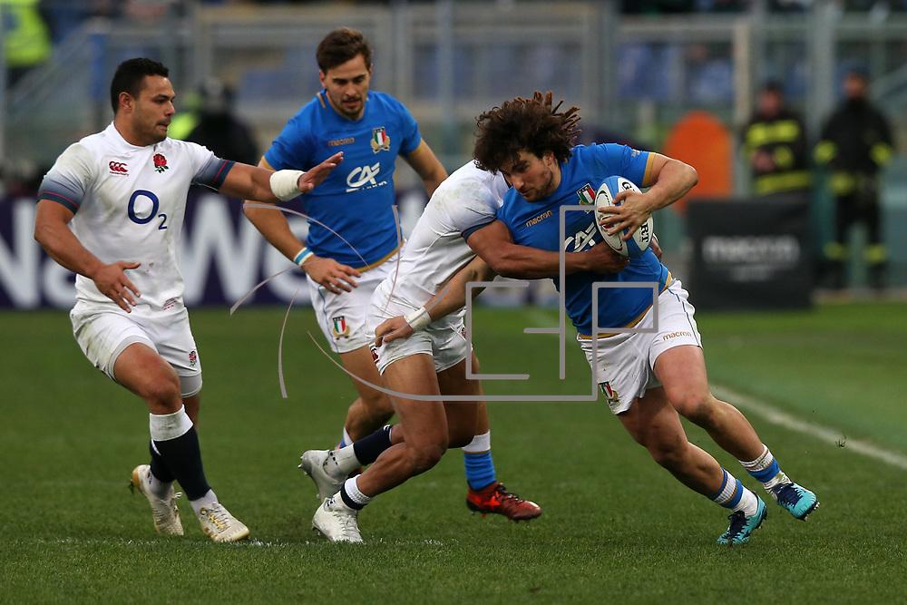 Roma 04/02/2018 Stadio Olimpico<br /> Natwest 6 nations Italia vs Inghilterra<br /> Tommaso Boni
