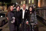 PRINCESS ALIA AL-SENUSSI; NICK HACKWORTH; ABDULLAH AL-TURKI; SELMA FERIANI,  EXHIBITION ORGANISED BY JAMM.- Neither Here Nor There- Reflections on Cultural Hybridity and the Third Space. Belgrave Sq. London. 7 October 2010. -DO NOT ARCHIVE-© Copyright Photograph by Dafydd Jones. 248 Clapham Rd. London SW9 0PZ. Tel 0207 820 0771. www.dafjones.com.